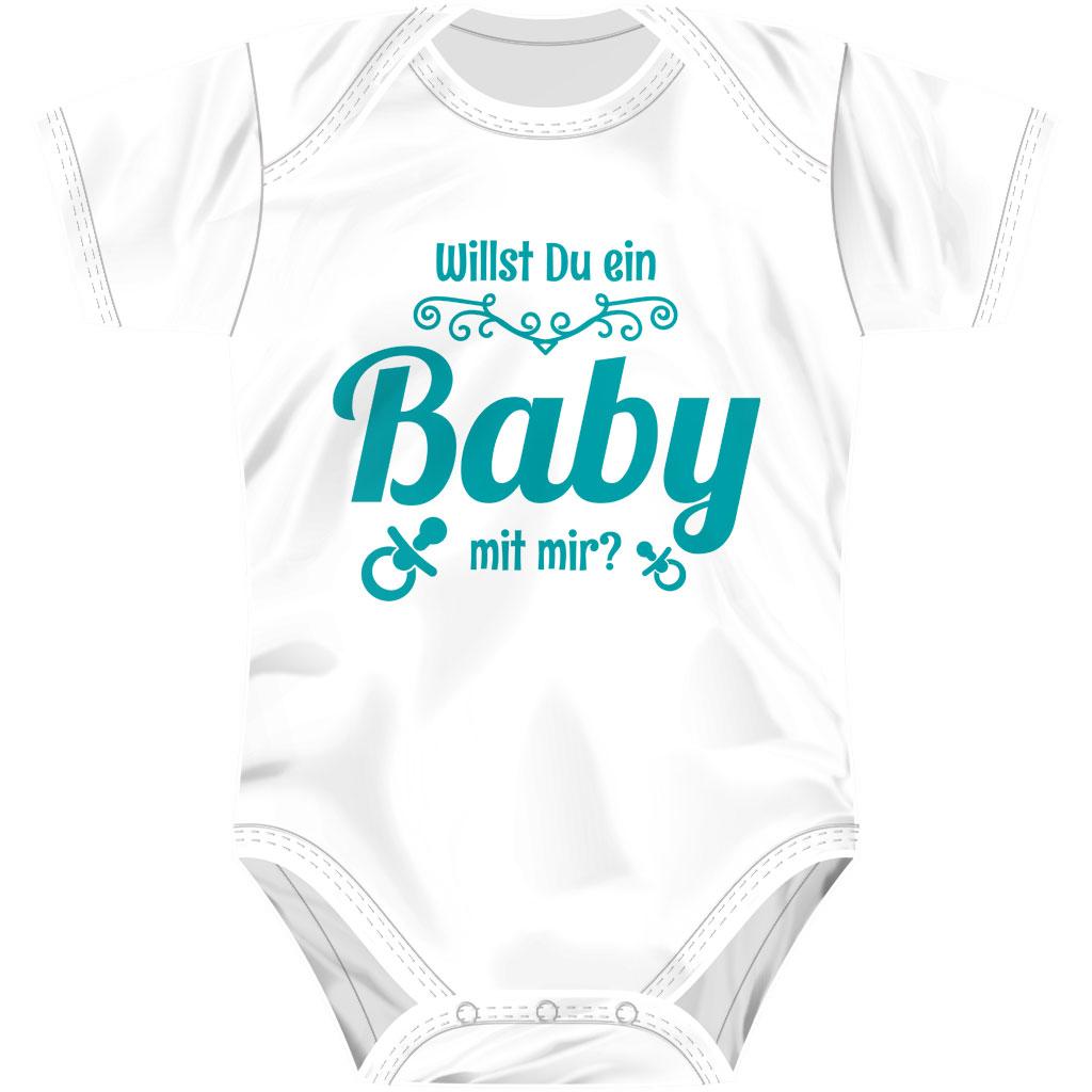 Willst Du ein Baby mit mir? - Babybody Kurzarm