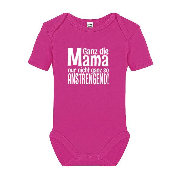 Body Strampler Glück ist Mama wie dich zu haben Muttertag  kurzarm weiß Baumwoll