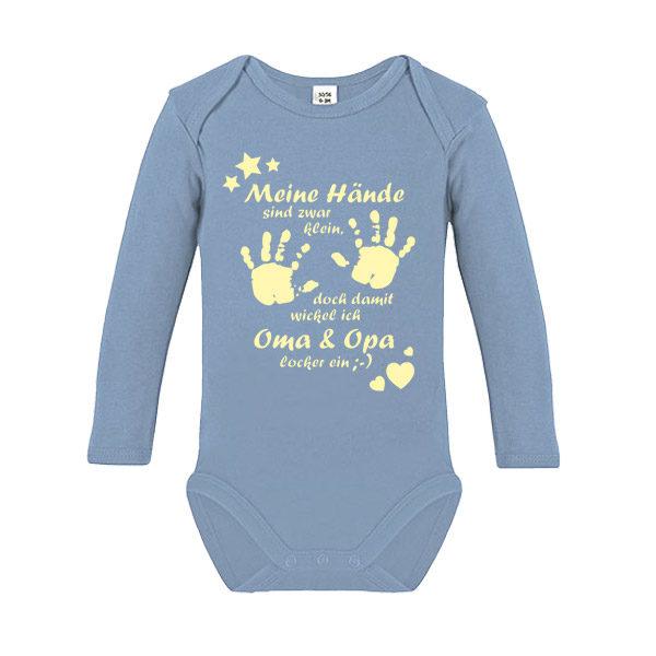 Rundhals 100/% Baumwolle Hilfe Baby Langarm Body Holt OMA! Langarm Basic Print-Body Comedy Shirts