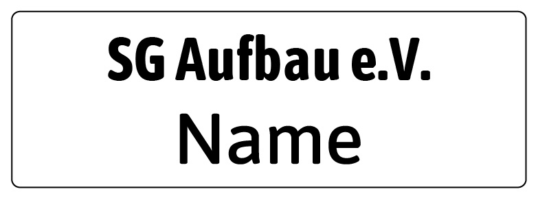 Name auf weiss